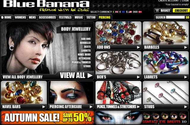 Choose a Gift Piercing - BlueBanana.Com