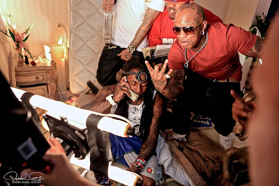 fotos de lil wayne birdman detail gudda gudda mack maine boo derick g grabando el video de no worries