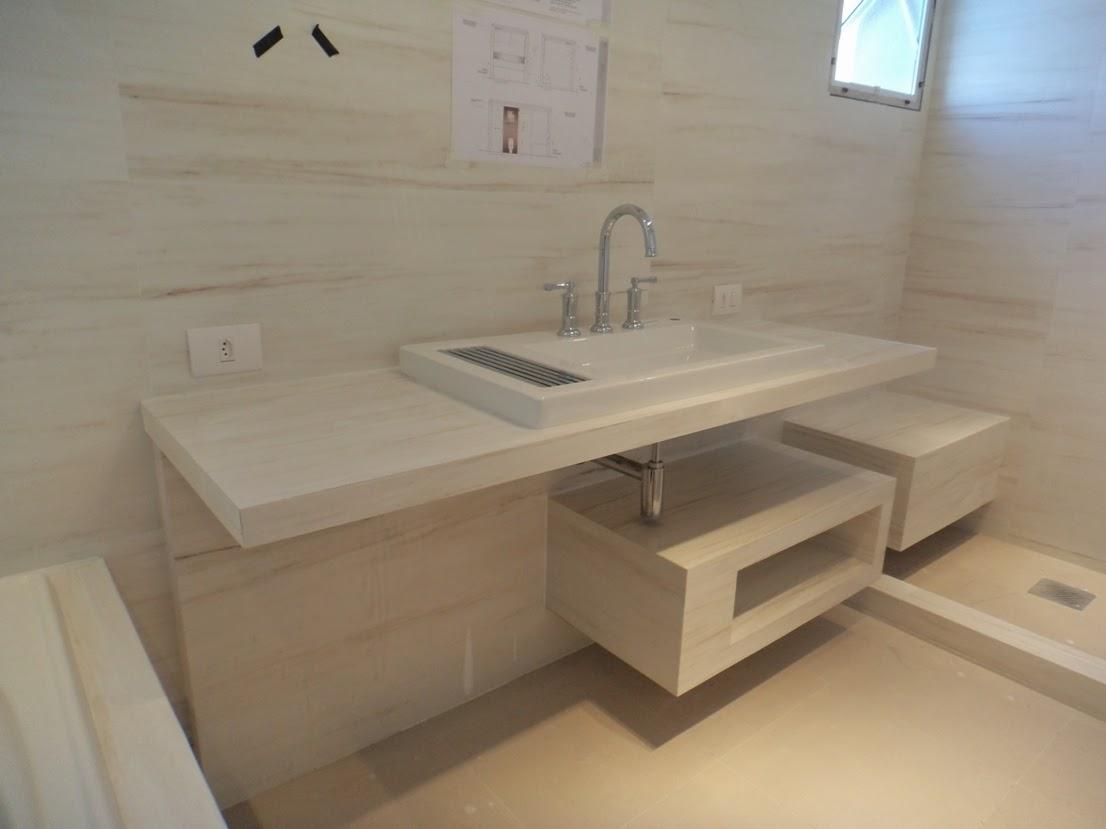 especiais em porcelanato.: Banheiro Porcelanato Bianco Di Ariston #1D83AE 1106x829 Banheiro Bancada Porcelanato
