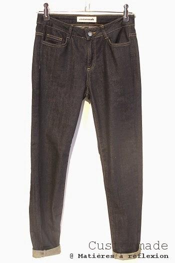 Custommade jeans bleu brut stretch slim