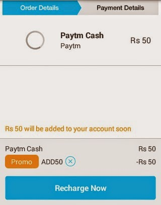 Free Rs 50 Paytm Wallet Cash ( New Users)