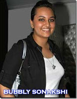 Sonakshi Sinha fat photos during lakme fashion show in black dress