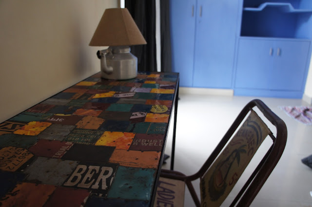 patchwork painted table
