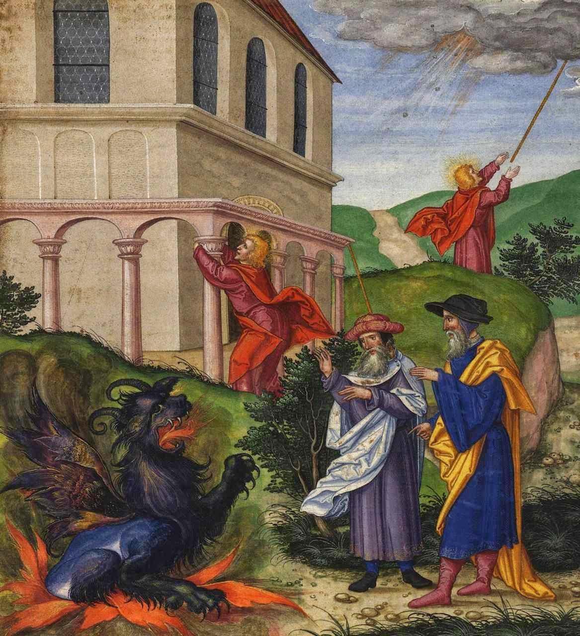 As duas testemunhas Ottheinrich-Bibel, Bayerische Staatsbibliothek