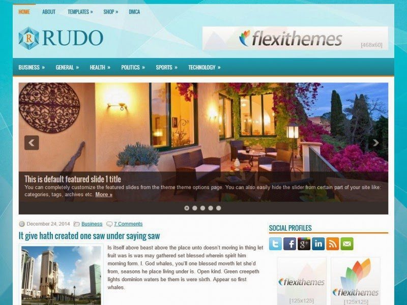 Rudo - Free Wordpress Theme