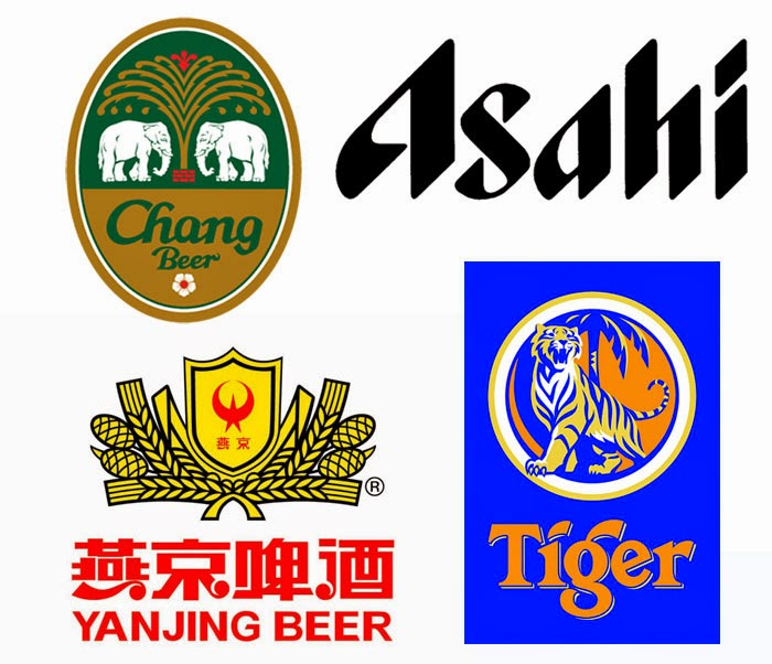Gluten beer low free test Asian bier pivo Chang, Tiger Yanjing Asahi China Thailand Japan Singapore lager
