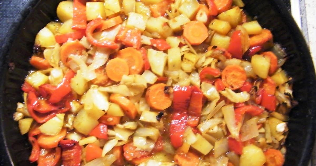 Comer rico y sano: Patatas y verduras al horno - photo#28