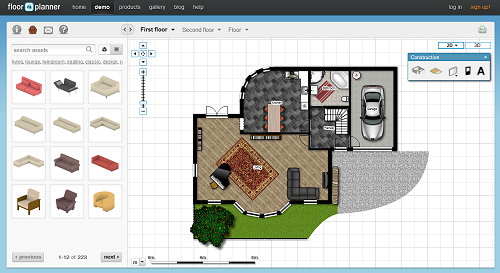 Top web apps online applications floorplanner floor for Free online floor plan generator