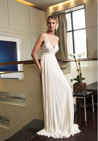 spaghetti-straps-sweetheart-empire-simple-wedding-dresses