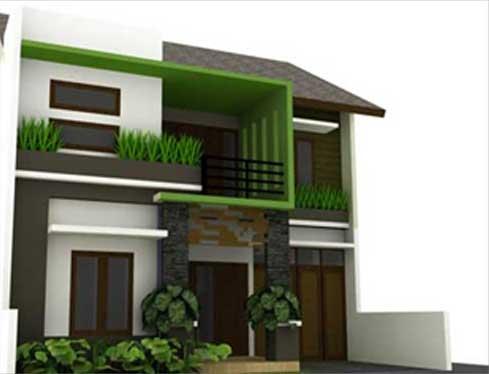 insiprasi membangun rumah sederhana 2 lantai gambar