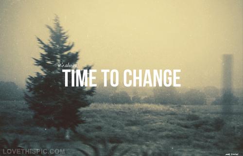 Tiempo de cambios
