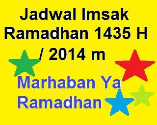 Jadwal Puasa Imsakiyah Ramadhan 1435H