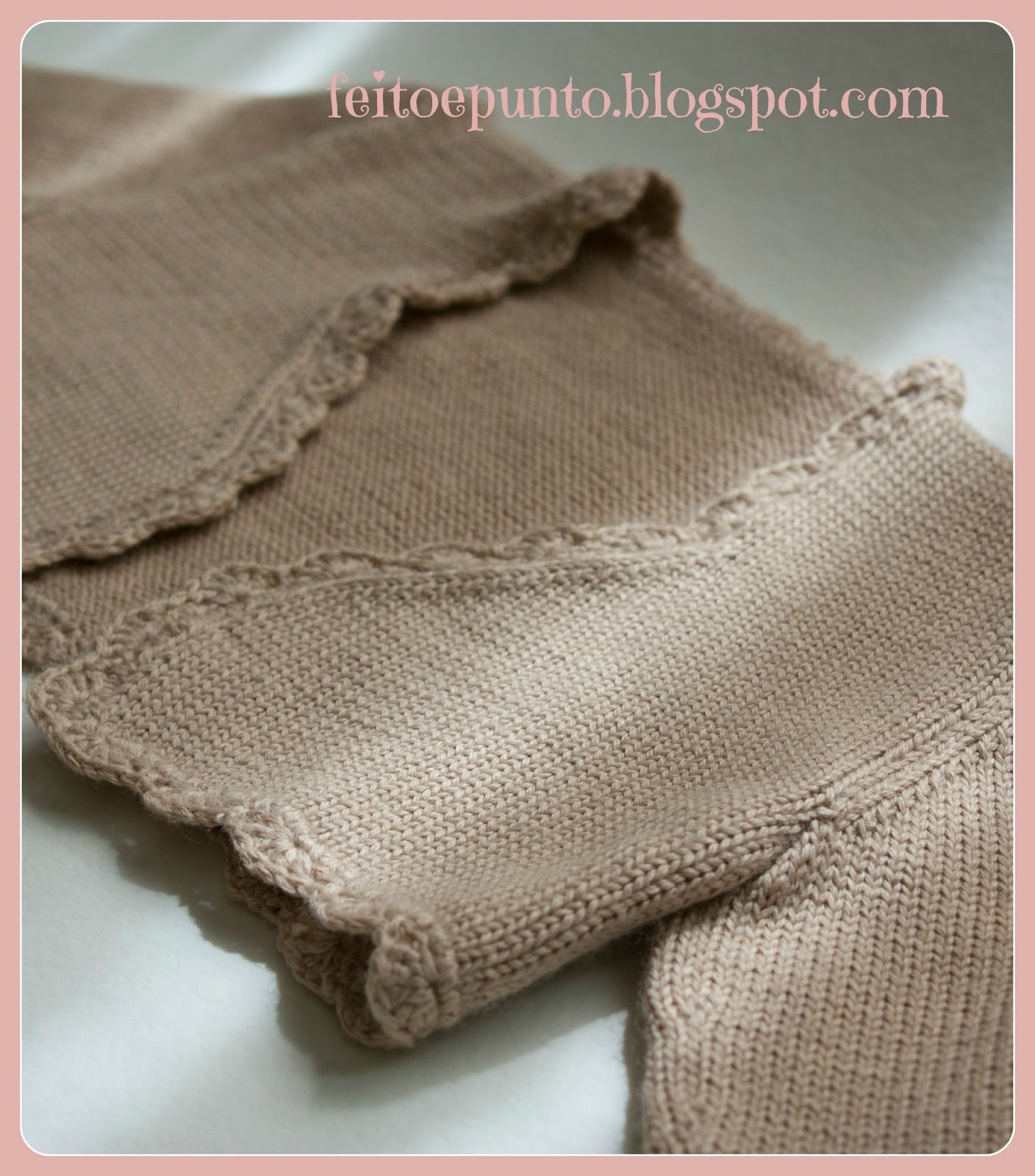 Feitoepunto chaqueta de punto camel - Como hacer punto de lana para principiantes ...
