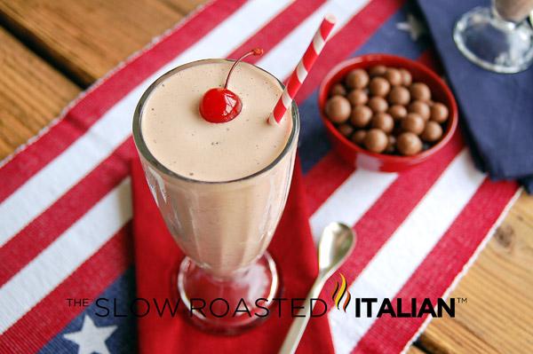 Better than Jack-in-the-Box Chocolate Malt Crunch Ice Cream Milk Shake