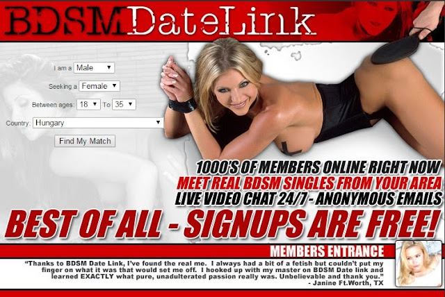 Free signup on the BDSM adult dating site