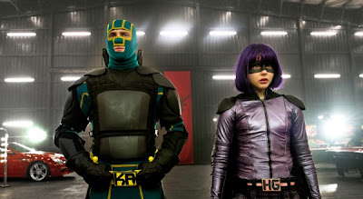 Chloe Grace Moretz and Aaron Taylor-Johnson in Kick-Ass 2