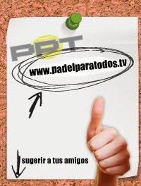 """Logo de la serie de consejos de """"pádelparatodos.tv"""""""