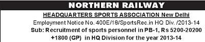 Northern Railway Recruitment 2014 - www.nr.indianrailways.gov.in
