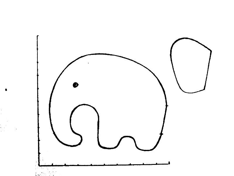 Выкройка подушки-слоника