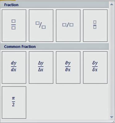 cara Membuat Equation dan Symbol dalam Microsoft Word