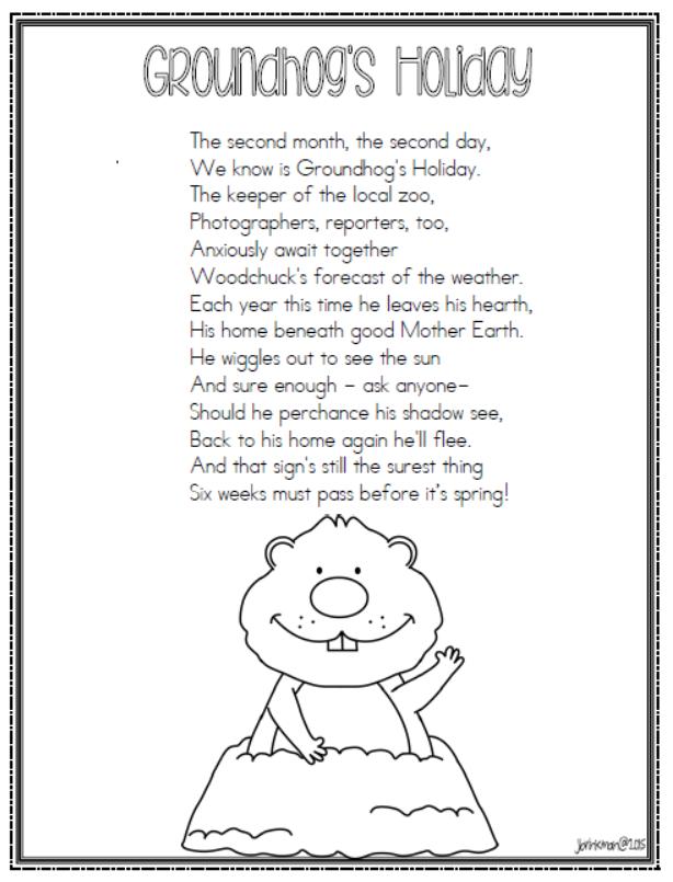 Mrs. Brinkman's Blog: Groundhog Day 2015