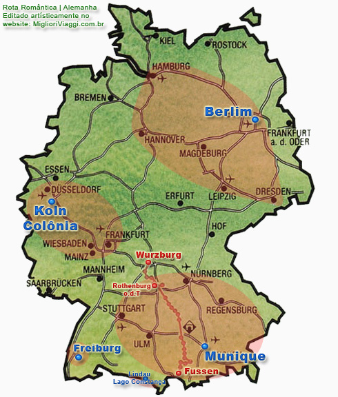 Principais cidades da Alemanha e Rota Romântica