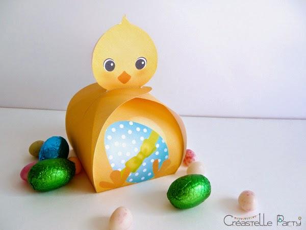 DIY boîte cadeau poussin pour Pâques / Easter chicks gift box