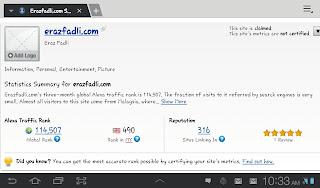 Blog ERAZ FADLI : Ranking Bawah 500 Sites di Malaysia - Alexa.com #4