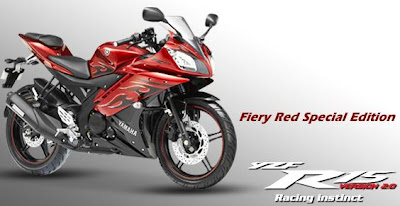 2012 Yamaha R15 special edition fiery flame red