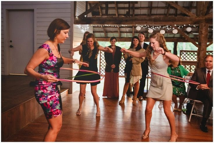 wedding guests with hula hoops Lenora's Legacy