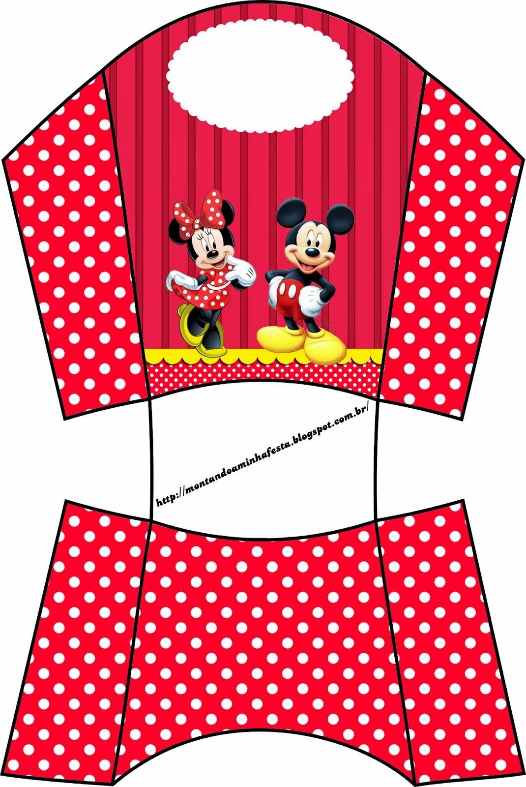 Caja de Mickey y Minnie para patatas o papas fritas.