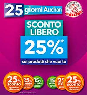 sconto libero 25% Auchan