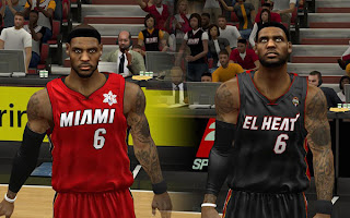 NBA 2K13 Miami Heat Complete Jersey Mods