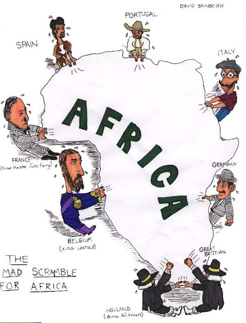 Map africa cartoon
