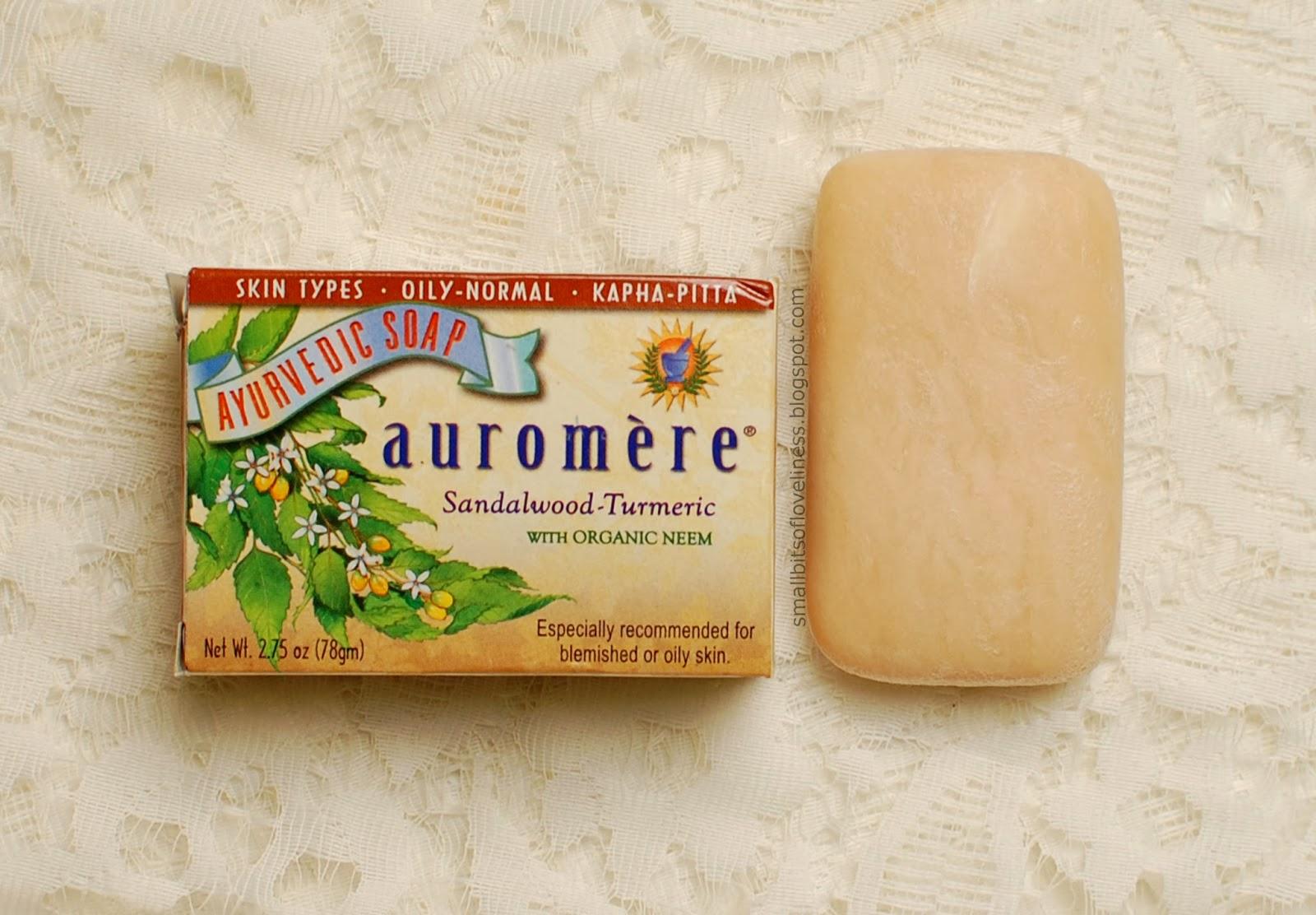 Auromere Ayurvedic Soap Sandalwood Turmeric with Organic Neem