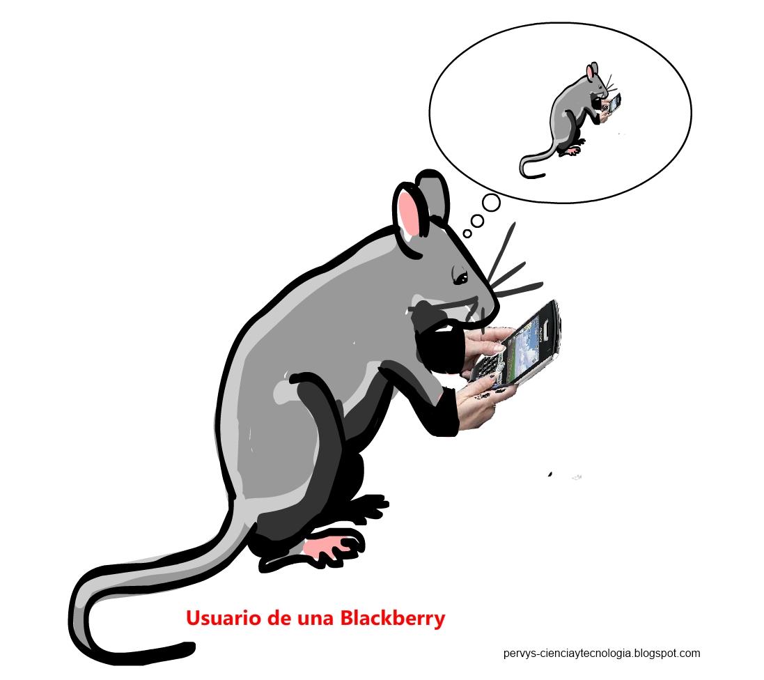 HUMOR GRÁFICO: USUARIO DE UNA BLACKBERRY