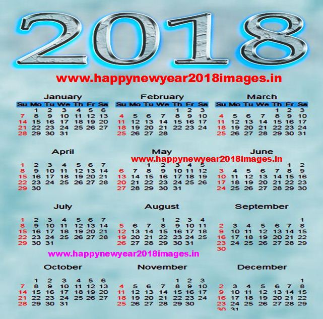Happy New Year 2018 Calendar | happy new year 2018