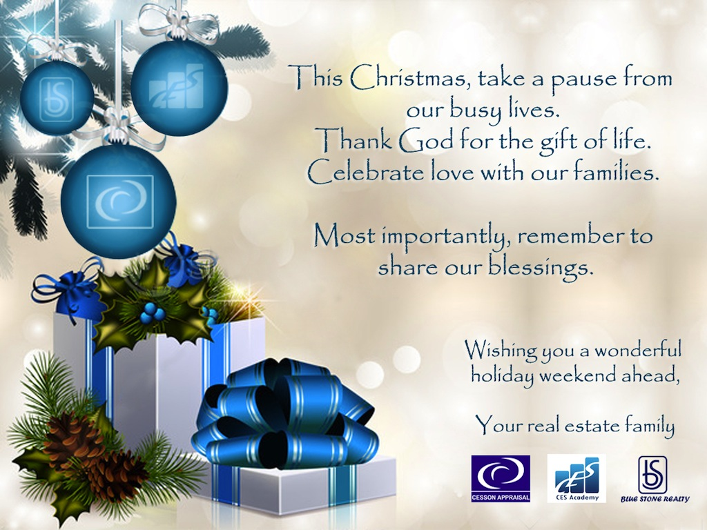 Merry Christmas from your real estate family! - CES Academy, Inc