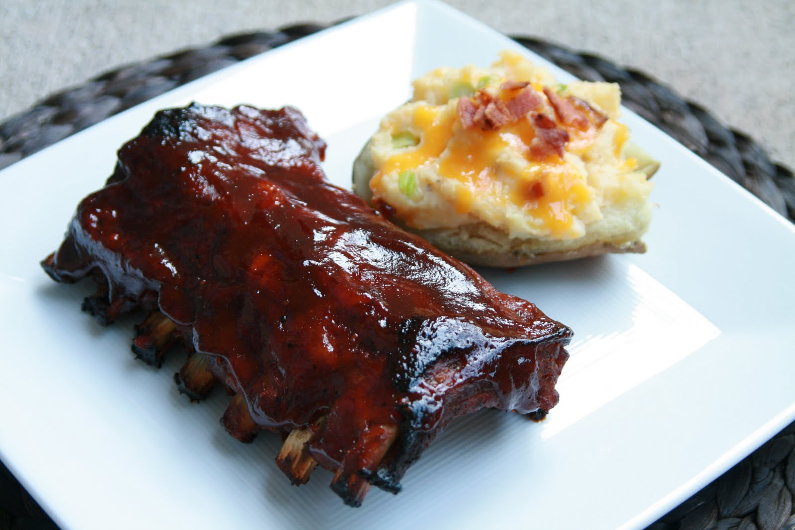 Baked Ribs With Spicy Blackberry Sauce Recipes — Dishmaps