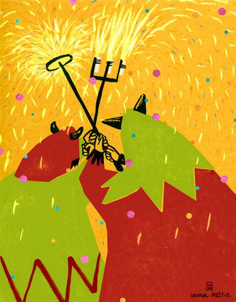 Il·lustració meva per a la portada de la revista El Montserratí. Copyright:Imma Mestre Cunillera