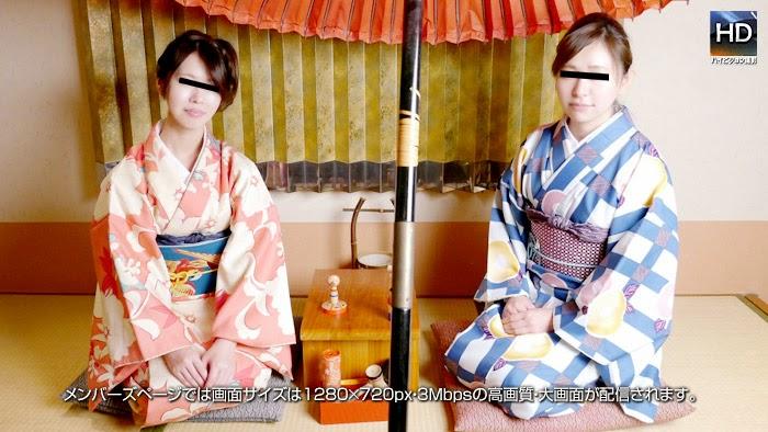 [720p HD] 1000人斬り 150101 レズフェティシズム ~初詣帰りに着物でしっぽり艶姿~