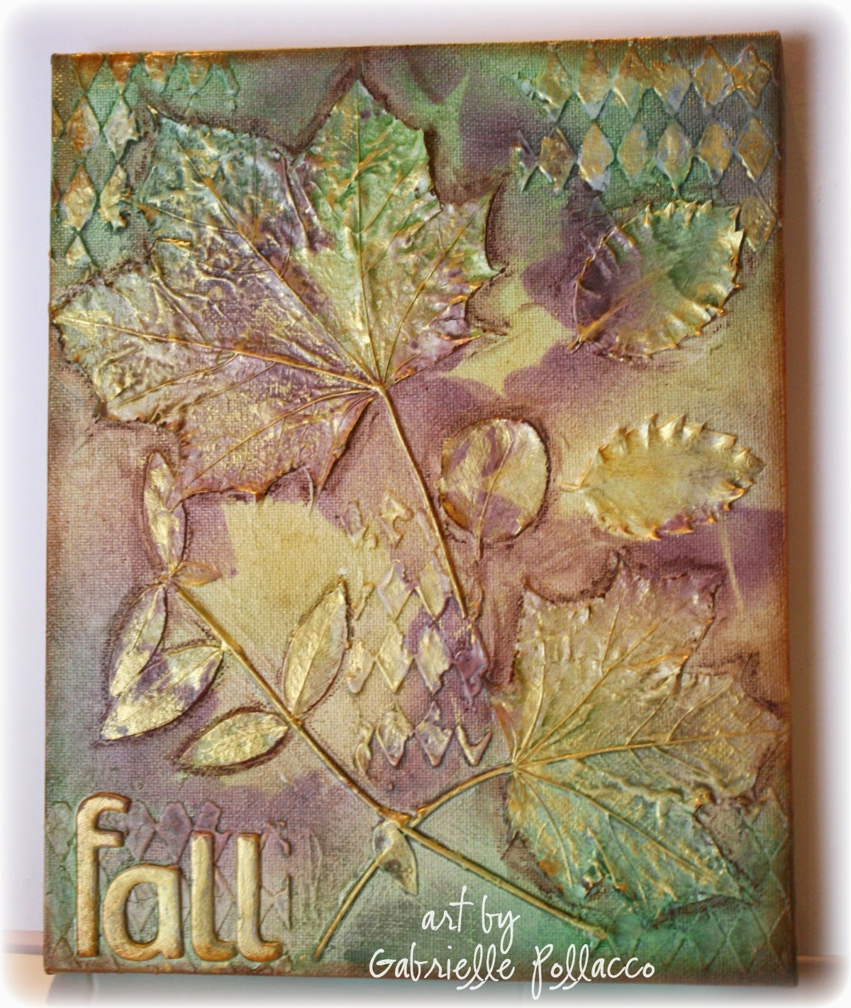 Autumn Canvas by Gabrielle Pollacco using Shimmerz Paints