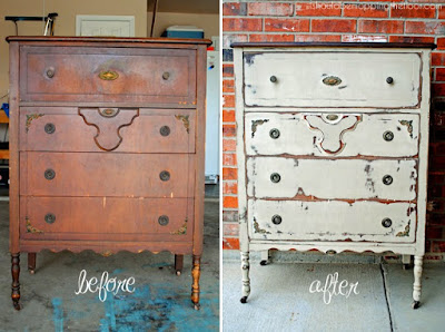 Chalk Paint Tutorial: Bedside Table Makeover using Annie Sloan Chalk Paint in Emperor's Silk and Dark Wax