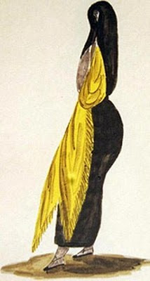 Tapada limeña según el pintor peruano Pancho Fierro