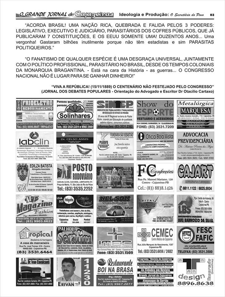 UMA  DAS PÁGINAS  DO NOSSO GRANDE JORNAL DE CAJAZEIRAS