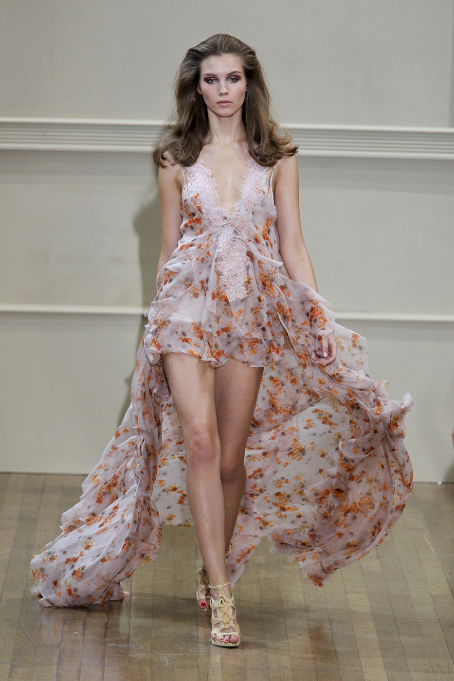 via fashioned by love | Julien McDonald Spring/Summer 2011 | floral trend