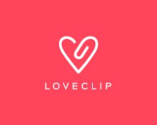 Love clip (design minimalista)