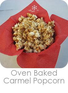 Oven Baked Carmel Popcorn