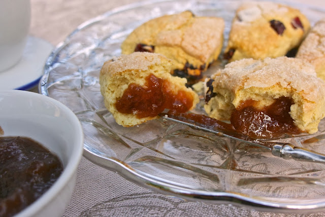 Apple Butter with Auntie Susie's Secret Recipe Scones