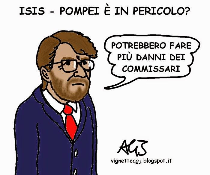 Franceschini, Pompei, Isis, satira , vignetta